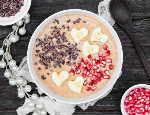 Mousse di zucca e banana con avena alle nocciole e cacao
