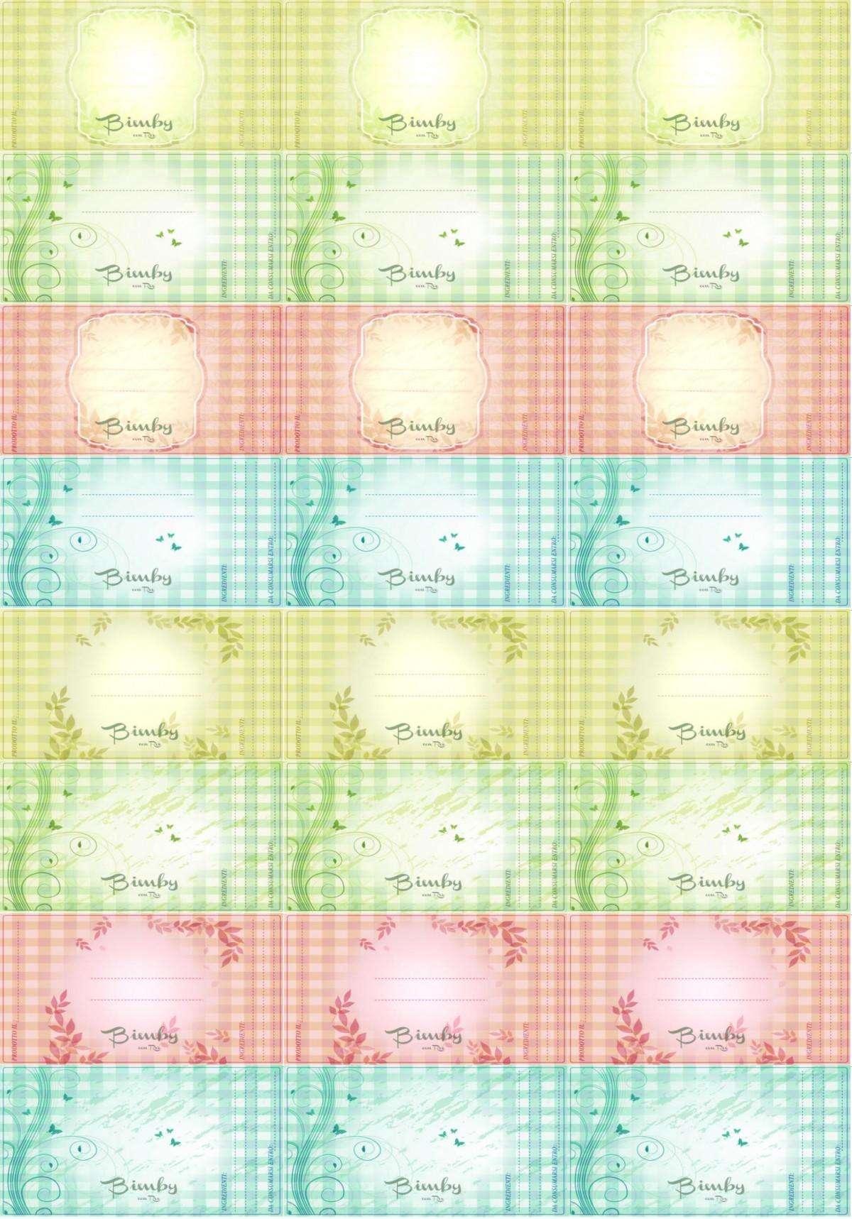 Etichette per barattoli personalizzati bimby con rox for Scritte in polistirolo prezzi