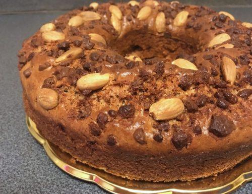 Ciambella Mandorle e Cioccolato (senza uova)