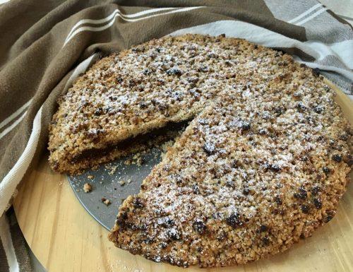 Torta Sbrisolona Croccante alle Mandorle con Crema al Cioccolato al Latte