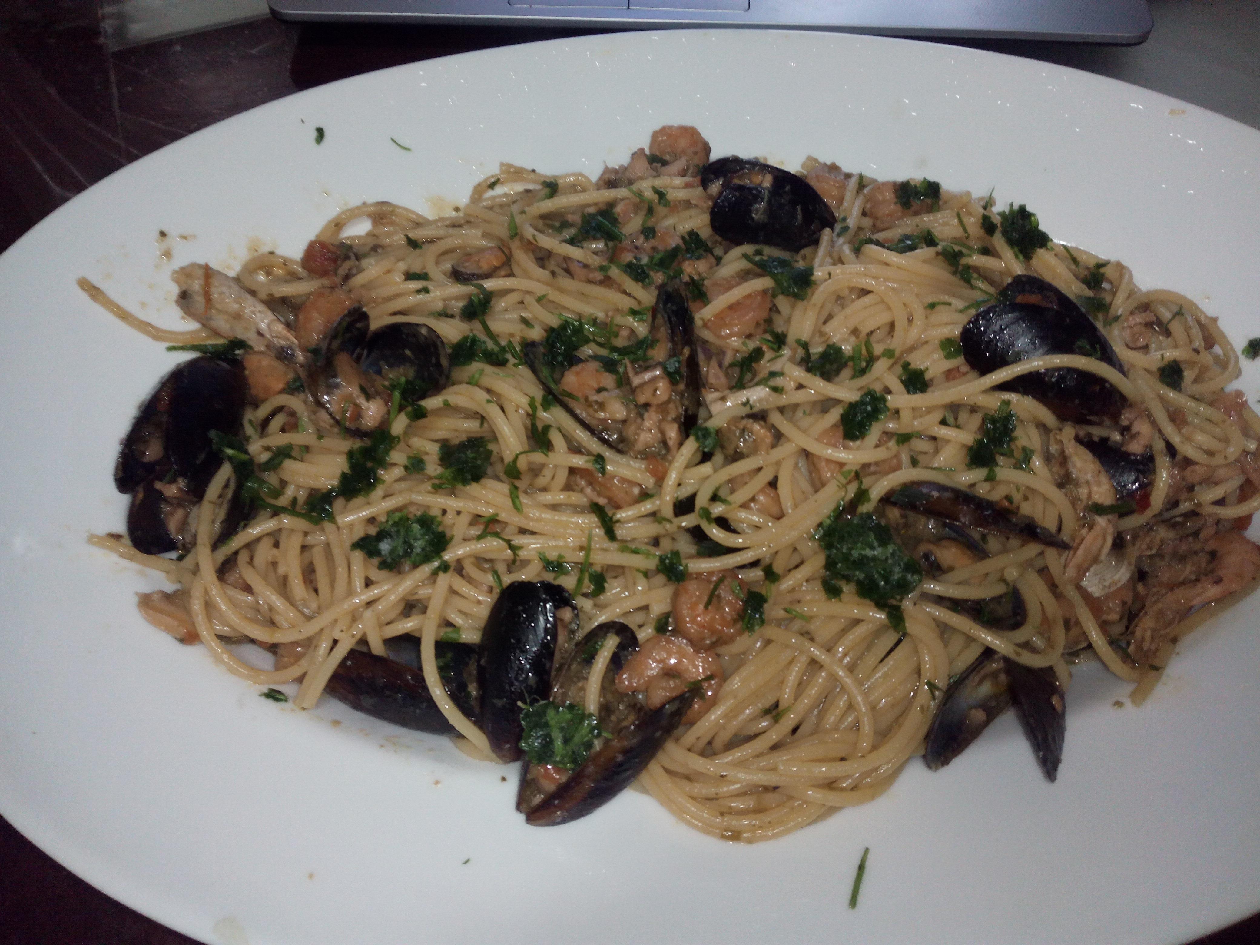 spaghetti al profumo di mare...surgelato