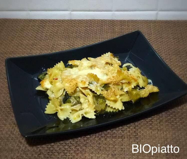 Sformato di pasta e verdure filanti