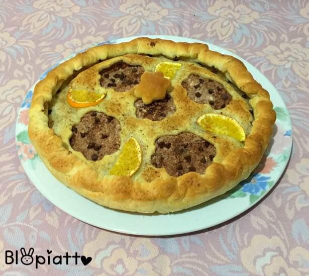 Torta salata ricotta e nutella profumo d'arancia e cannella