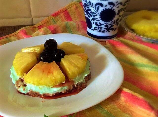 Cheesecake menta ananas amarena e mirto