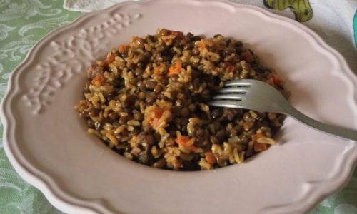Riso lenticchie e carote