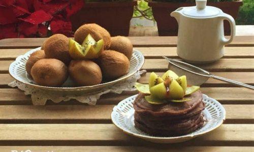 Pancakes light al cacao senza latte ne uova