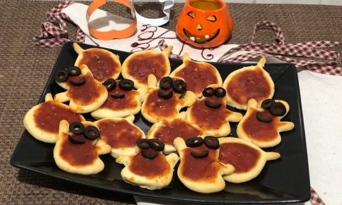 Pizzette rosse halloween