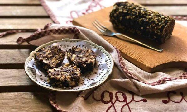 Torrone morbido biscotti e cioccolato
