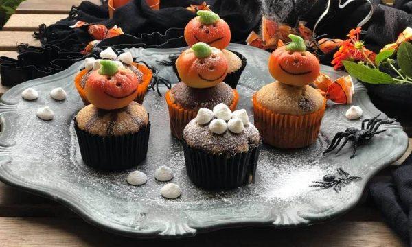 Muffin light cioccovaniglia Halloween