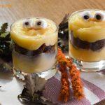 Coppe mostruose con crema pasticcera - ricetta di Halloween