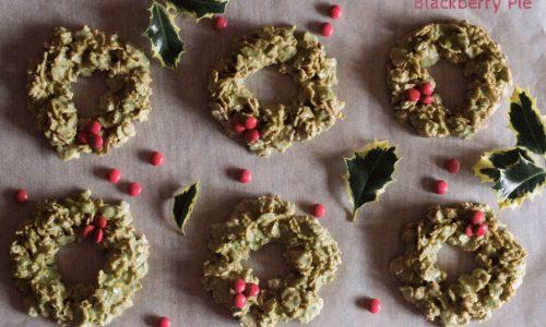 Ghirlande natalizie con Cornflakes e menta