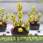 Cupcakes extraterrestri - ricetta di Halloween