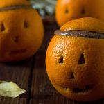 Finte zucche di arancia e cioccolato - ricetta di Halloween