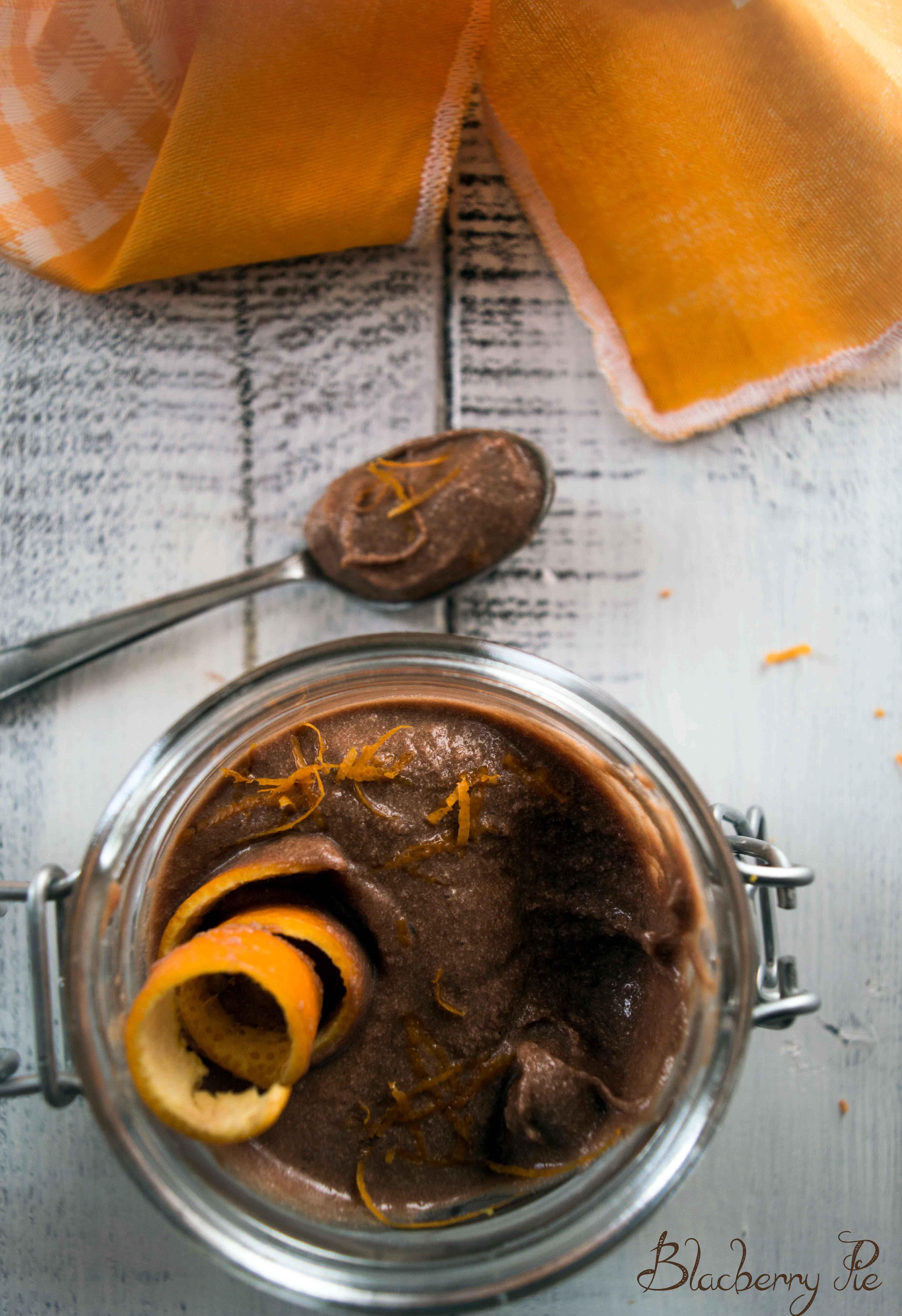 mousse al cioccolato e arancia
