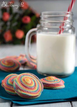 biscotti girelle arcobaleno