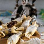 Chiacchiere al forno ripiene di Nutella