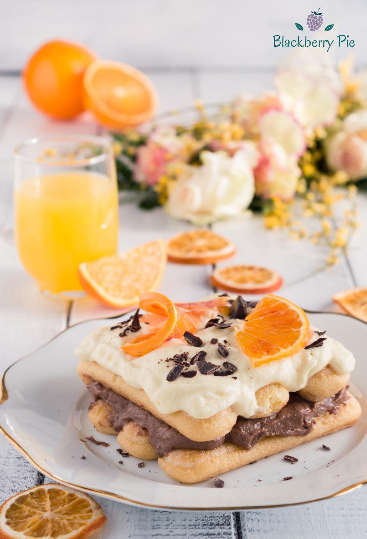 tiramisu arancia e cioccolato