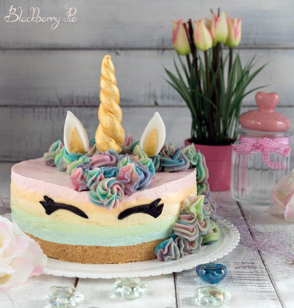 Cheesecake unicorno blackberry pie for Decorazione unicorno