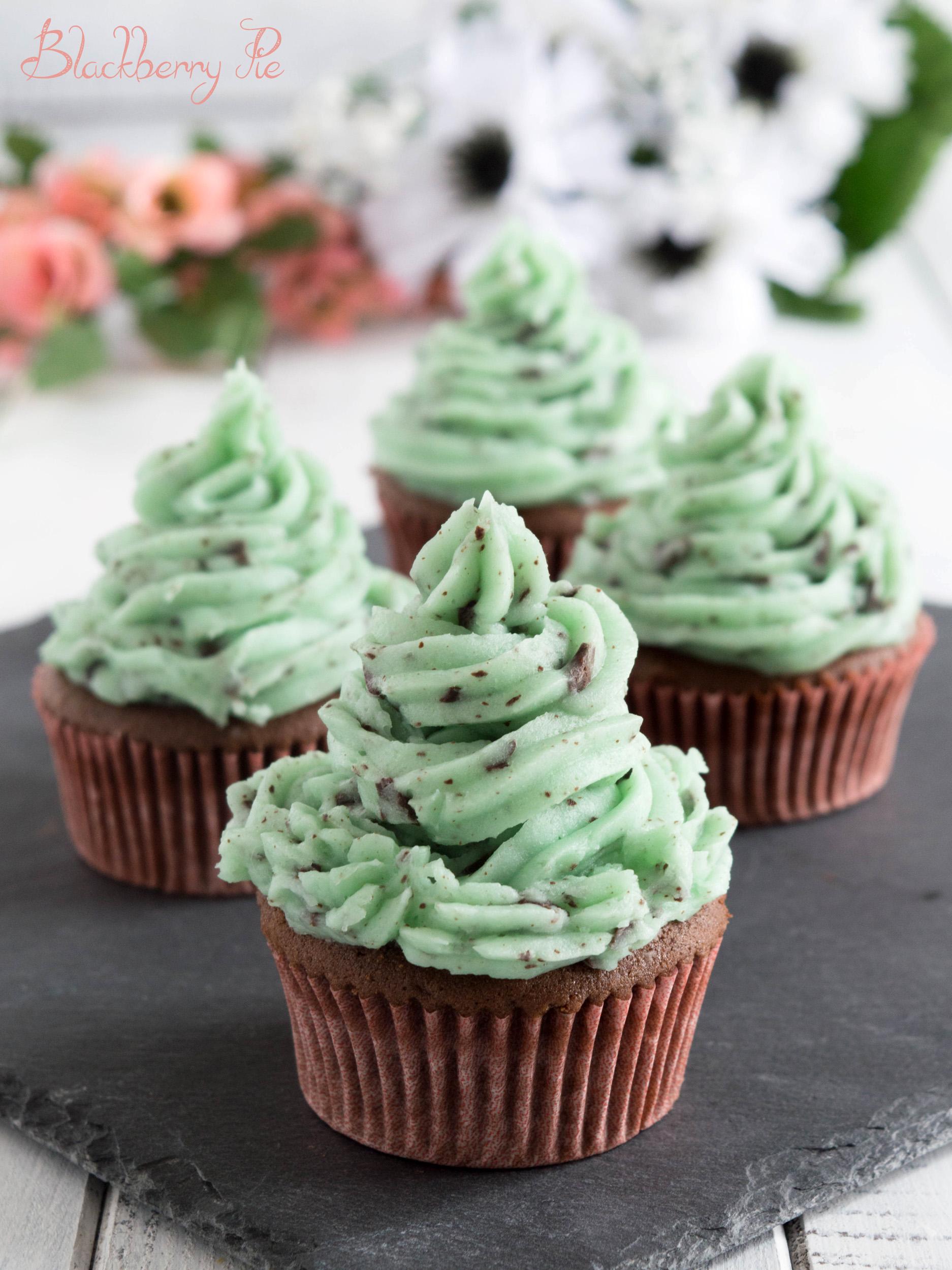 cupcakes menta e cioccolato