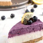 Cheesecake al limone e mirtilli - dolce senza cottura