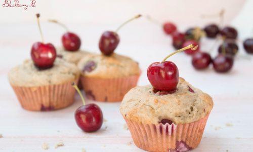 Muffin alle ciliegie sofficissimi con yogurt