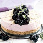 Cheesecake alle more e cioccolato bianco senza cottura