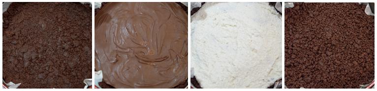 sbriciolata al cacao con cocco e nutella