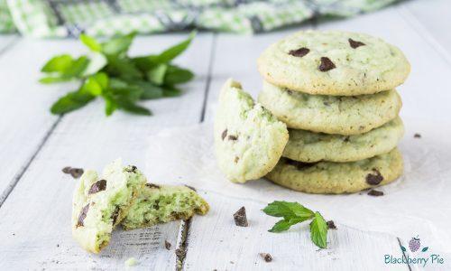 Cookies alla menta con gocce di cioccolato