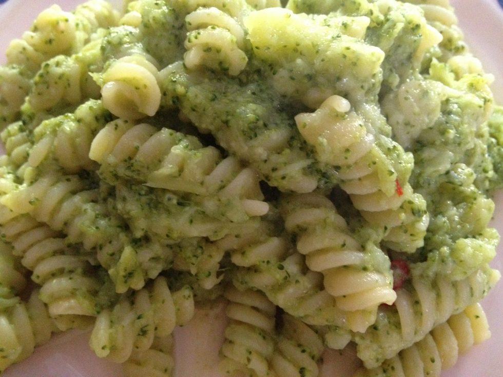 Fusilli con crema di broccoli