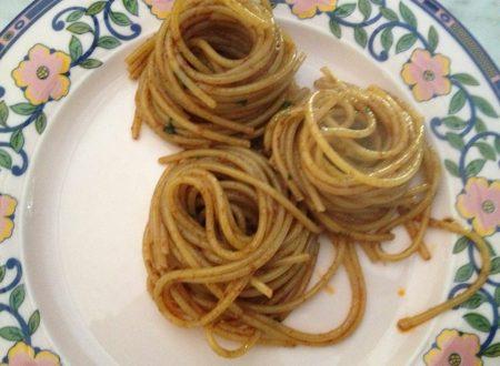 Spaghetti con la sardella o neonata