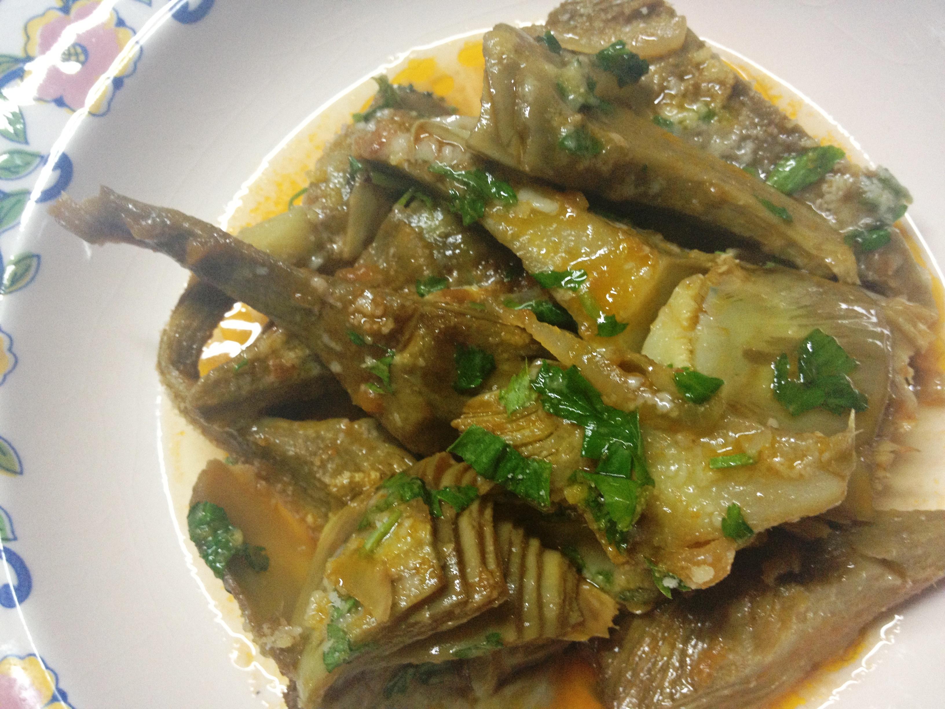 Stocco con carciofi ricetta prelibata la cucina del sole for Ricette con carciofi