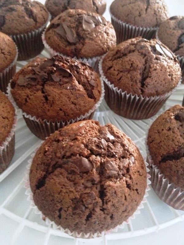 Muffins morbidi al cioccolato