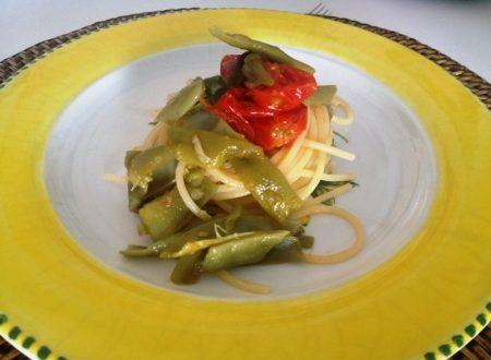 Spaghetti con piattoni o vaianeddhi e pomodorini