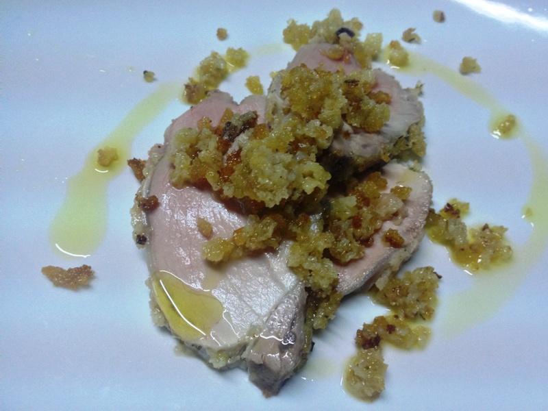 filetto di maiale al pane aromatico