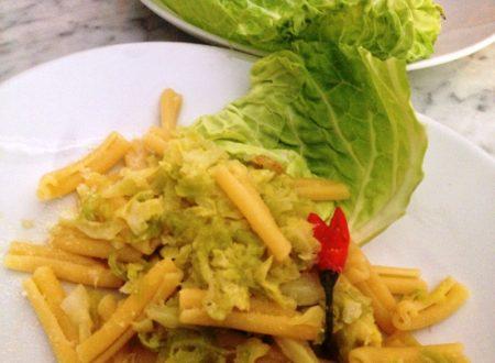 Pasta risottata con verza e patate