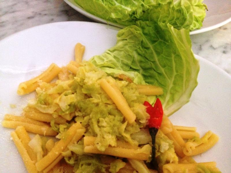 pasta con verza e patate
