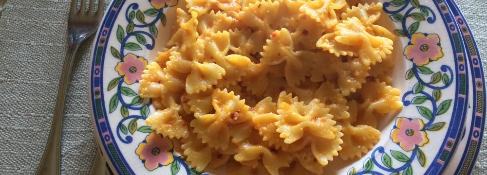 Pasta con zucca e 'nduja ricetta saporita