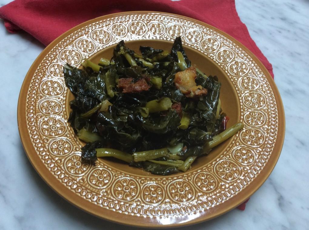 Foglia di broccolo con salsiccia