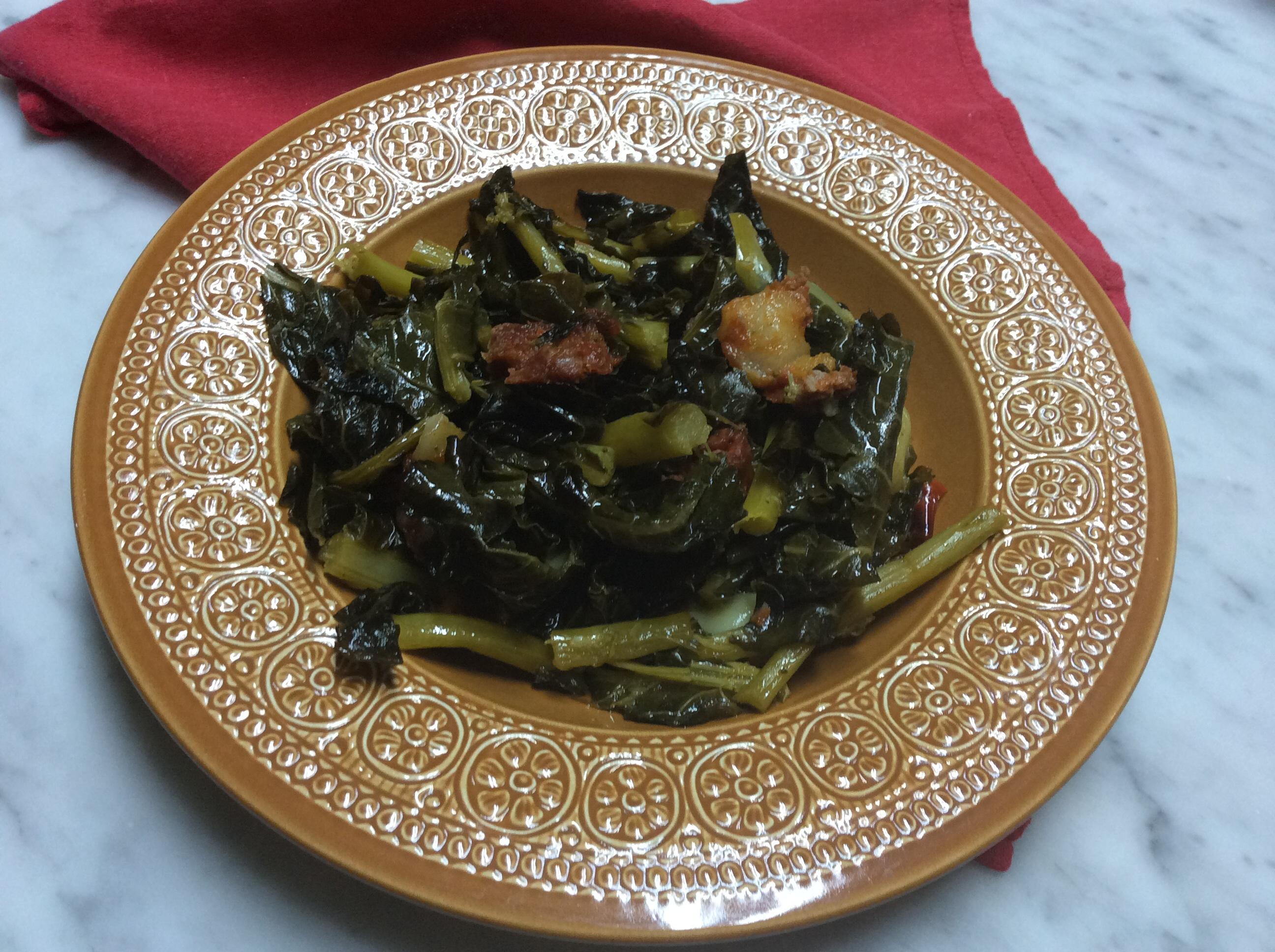 Foglie di broccolo con salsiccia