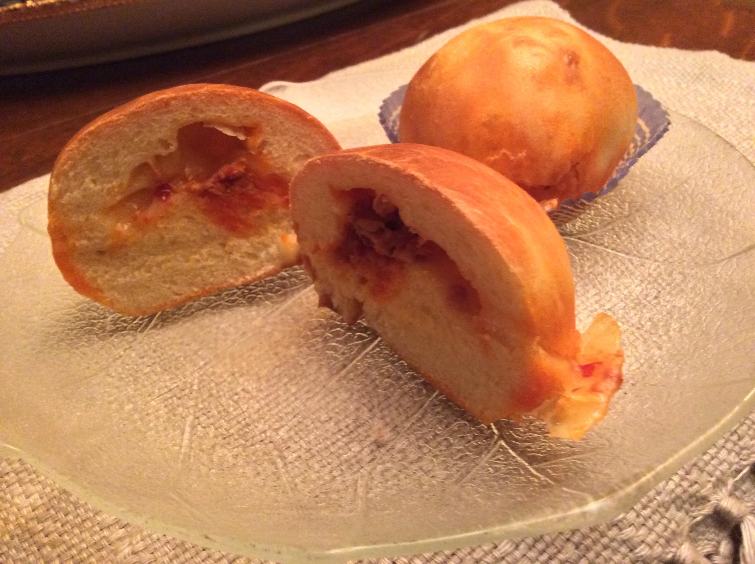 Panini di pan brioche soffice con nduja