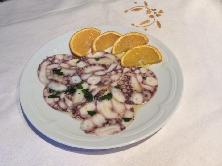 Carpaccio di polipo ricetta gustosa
