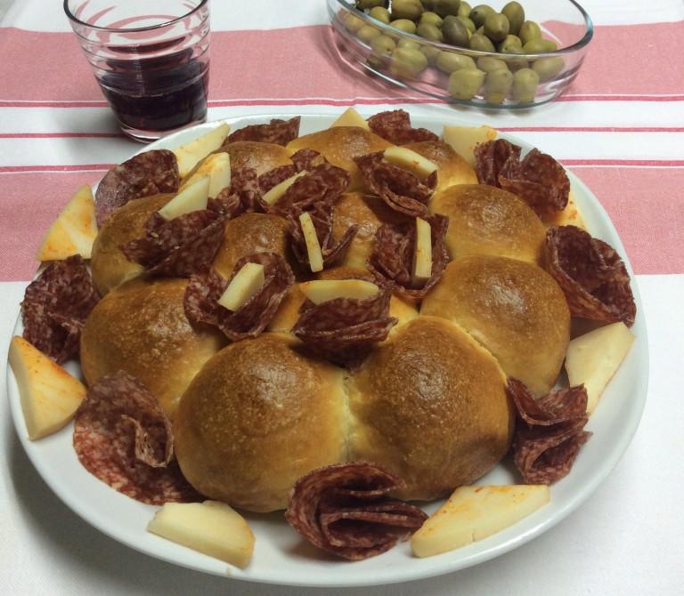 Danubio salato morbido torta al pizzico