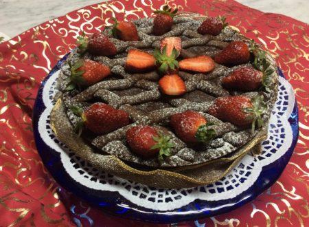 Crostata con ganache e crema pasticcera
