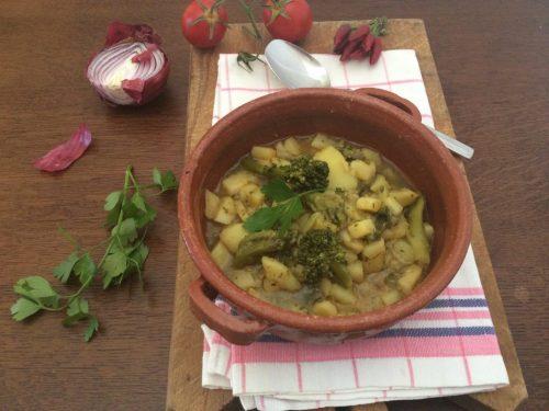 Zuppa di patate e broccoletti