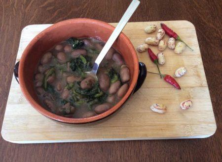 Zuppa di fagioli spulicareddha e cicoria