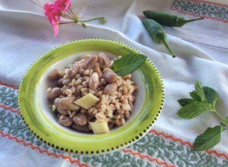 Insalata di farro e fagioli ricetta estiva