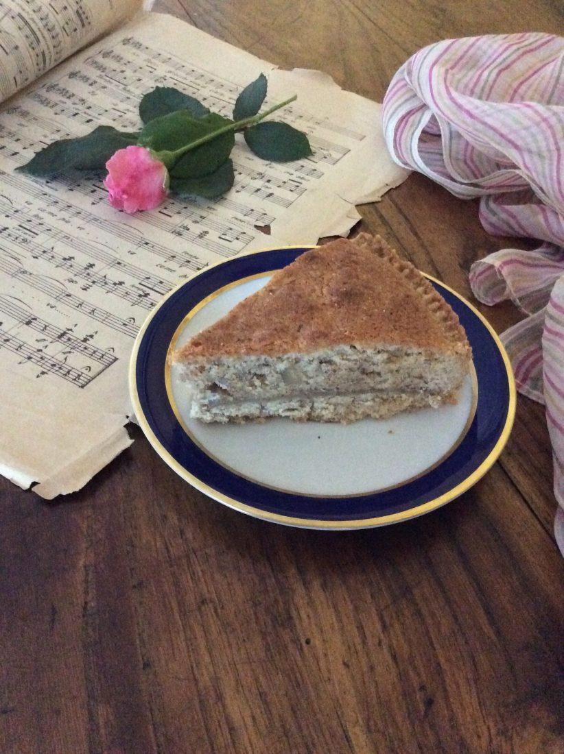 Torta frangipane con crema di castagne