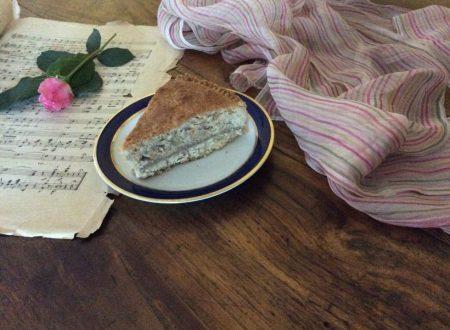 Torta frangipane con  crema di castagne e frolla integrale