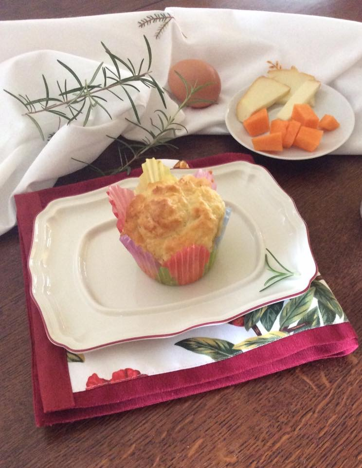 Muffin salati con zucca e rosmarino