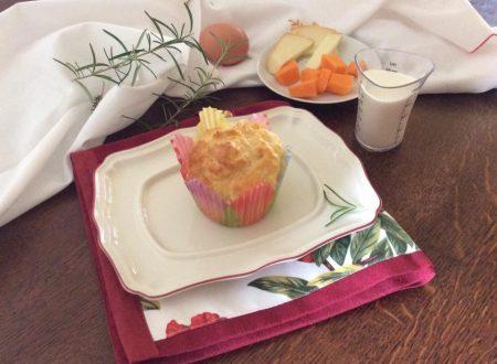 Muffins salati con zucca e rosmarino